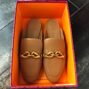 Tory Burch Jesse Backless Loafer Brown/Tan Leather